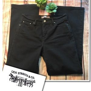 LEVI'S Perfectly Slimming #512 Black Bootcut 8